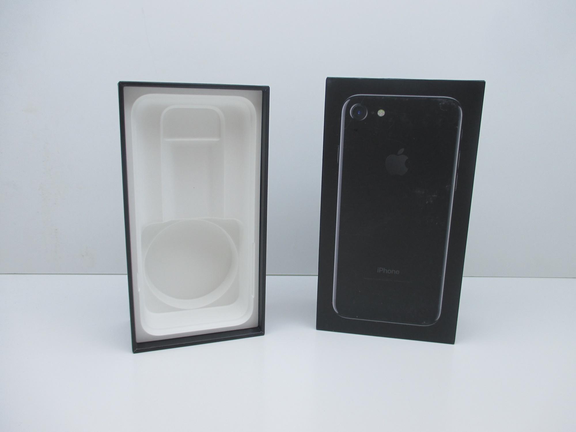 apple iphone 7 verpackung ovp leerkarton jet black 256gb. Black Bedroom Furniture Sets. Home Design Ideas